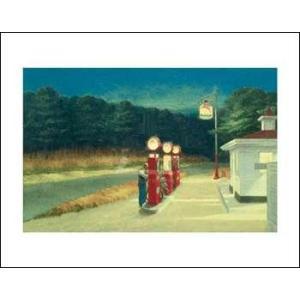 -アートポスター-ガスステーション(281×358mm) エドワード・ホッパー -おしゃれインテリアに-|poster