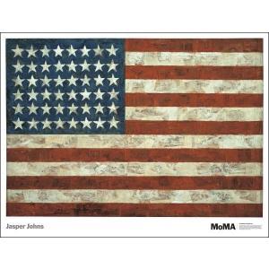 -ジャスパー・ジョーンズ アートポスター-Flag, 1954(740×968mm) -おしゃれインテリアに- poster