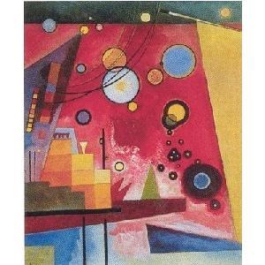 【アートポスター】 重い赤色 (60cm×80cm) ワシリー・カンディンスキー|poster