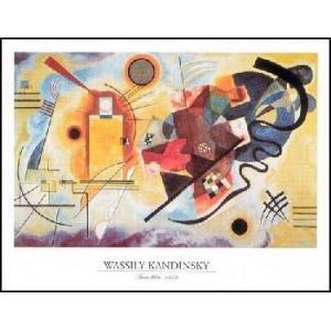 【アートポスター】 黄ー赤ー青 (40cm×50cm) ワシリー・カンディンスキー|poster