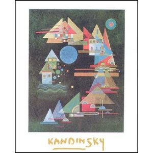 【アートポスター】 弧における多くの尖端 (60cm×80cm) ワシリー・カンディンスキー|poster