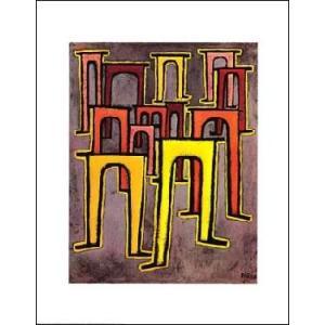 -クレー アートポスター- 順列を崩した高架橋 (560×710mm) -おしゃれインテリアに-|poster
