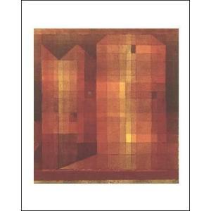 -クレー アートポスター- 城1(40cm×50cm) -おしゃれインテリアに-|poster