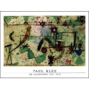 -クレー アートポスター-バッハのスタイル1919年(60cm×80cm) -おしゃれインテリアに-|poster