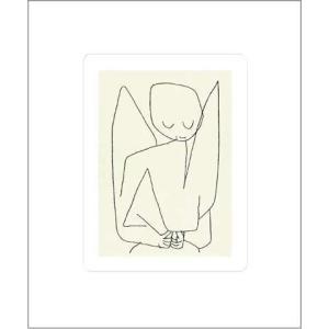 【クレー ポスター】忘れっぽい天使(シルクスクリーン)500×600mm|poster