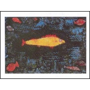 【アートポスター】 金色の魚 (60cm×80cm) パウル・クレー|poster