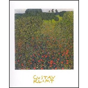 -アートポスター- けしの咲く野 (70cm×100cm) グスタフ・クリムト -おしゃれインテリアに-|poster