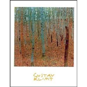 -アートポスター- ぶな林 (24cm×30cm) グスタフ・クリムト -おしゃれインテリアに-|poster