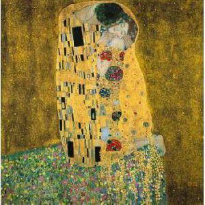 -アートポスター-接吻30cm×30cm グスタフ・クリムト -おしゃれインテリアに-|poster