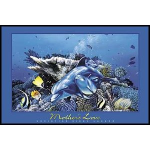 【クリスチャン・ラッセン】母の愛(620×925×10mm) ポスター&アルミ製フレームセット|poster