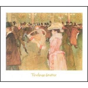 【ロートレック ポスター】ムーラン・ルージュのダンス(24cm×30cm)|poster