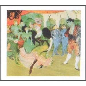 【ロートレック ポスター】バレーを踊るマルセル・ランデ(24cm×30cm)|poster