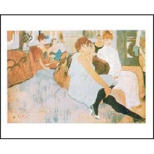 【ロートレック ポスター】ムーラン街のサロン(40cm×50cm)|poster