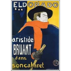 -ロートレック アートポスター-エルドラドのアリステュード・ブリュアン(421×610mm) -おしゃれインテリアに- poster