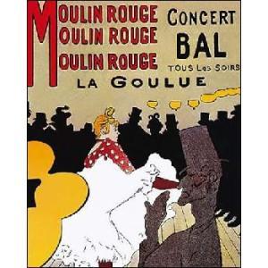【ロートレック ポスター】ムーラン・ルージュ・ラ・グイユ (406×508mm)|poster