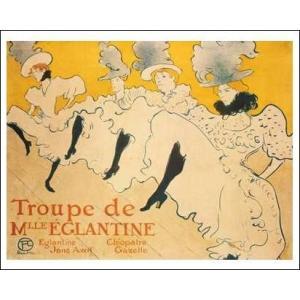 【ロートレック ポスター】マドモアゼル・エレガンティーヌとその一座 (486×610mm)|poster