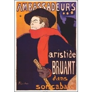 【ロートレック ポスター】アンバサドールのアリスティード・ブリュアン(635×940mm)|poster