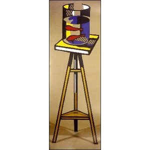 -リキテンスタイン アートポスター-テーブルの上の金魚鉢(420×987mm) -おしゃれインテリアに-|poster