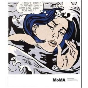 -リキテンスタイン アートポスター-溺れる少女(586×670mm) -おしゃれインテリアに-|poster