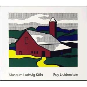 -リキテンスタイン アートポスター-赤い納屋II 1969年-シルクスクリーン-(700×900mm) -おしゃれインテリアに-|poster