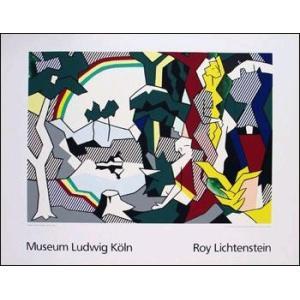 -リキテンスタイン アートポスター-人物と風景1980年-シルクスクリーン-(700×900mm) -おしゃれインテリアに-|poster