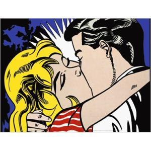 -リキテンスタイン アートポスター-Kiss II, 1962(300×400mm) -おしゃれインテリアに-|poster