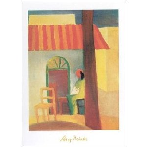 【アートポスター】 Turkish Cafe (60cm×80cm) アウグスト・マッケ|poster