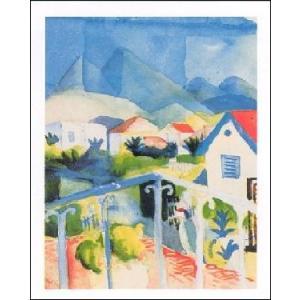 【アートポスター】 チュニスの白い家 1914年 (60cm×80cm) アウグスト・マッケ|poster