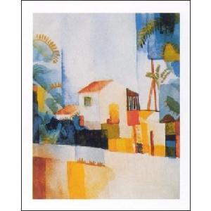 【アートポスター】 白い家 1914年 (60cm×80cm) アウグスト・マッケ|poster