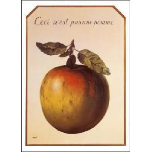【マグリット ポスター】これはリンゴではない(50×70cm) poster
