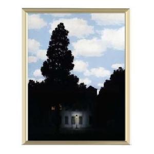 【ルネ・マグリット アルミ額装ポスター】光の帝国(300×380×7.5mm)|poster