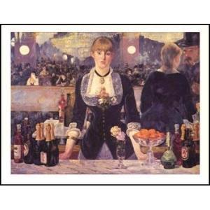 【マネ】フォリー・ベルジェールの酒場(610x762mm) アートポスター|poster