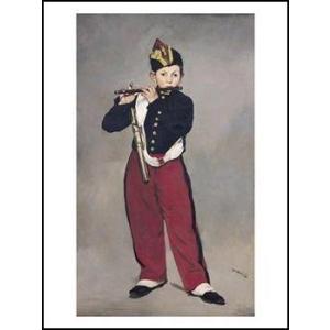 -マネ-笛を吹く少年(560x686mm) アートポスター -おしゃれインテリアに-|poster