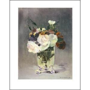 【マネ ポスター】クリスタルの花瓶の花(281x358mm)|poster