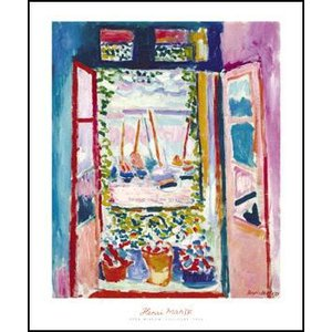 -マティス アートポスター- 開いた窓、コリウール 1905年(508×610mm) -おしゃれインテリアに-|poster