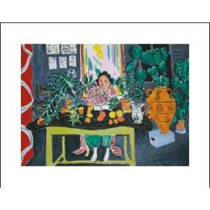-アートポスター-エトルリアの壺と室内1940年(281×358mm) マティス -おしゃれインテリアに-|poster