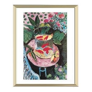 【アンリ・マティス アルミ額装ポスター】金魚(300×380×7.5mm)|poster