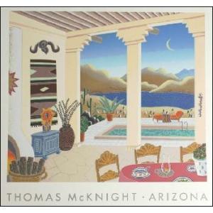 -マックナイト アートポスター-砂漠の中庭(アリゾナ)(457×457mm) -おしゃれインテリアに- poster