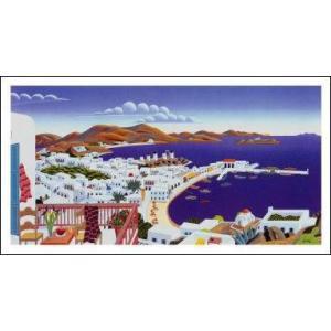 -マックナイト アートポスター-ミコノス島の全景(356×660mm) -おしゃれインテリアに- poster