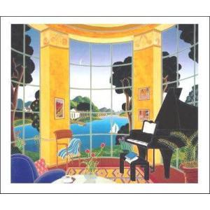 -マックナイト アートポスター-黄色の音楽室(457×560mm) -おしゃれインテリアに- poster