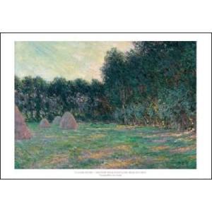 【モネ ポスター】ジヴェルニー近郊の草原と積み藁(610×915mm)|poster
