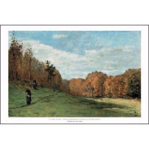 【モネ ポスター】森の隅を歩く木こり(610×915mm)|poster
