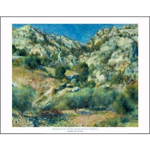 -アートポスター-エスタックの岩山(560×710mm) ルノアール -おしゃれインテリアに- poster
