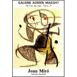 -ミロ アートポスター-最近の作品(リトグラフ)570×820mm ジョアン・ミロ -おしゃれインテリアに-|poster