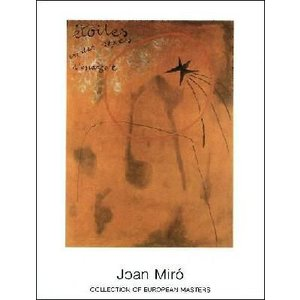 -ミロ アートポスター-星とエスカルゴ1925年(700×900mm) ジョアン・ミロ -おしゃれインテリアに-|poster