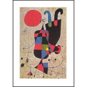 -アートポスター- 逆さの肖像 (70cm×100cm) ジョアン・ミロ -おしゃれインテリアに-|poster