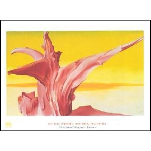 【アートポスター】 オキーフ 赤い樹と黄色い空 60cm×80cm|poster