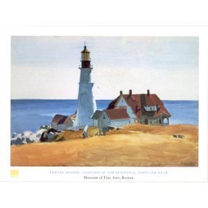 ホッパー ポートランドの灯台 60cm×80cm -おしゃれインテリアに-|poster