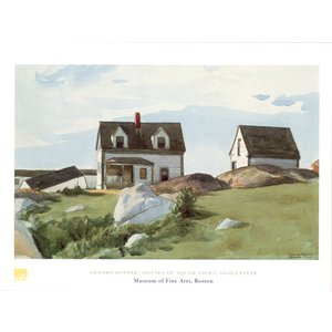 ホッパー Houses of Squam Light Gloucester 60cm×80cm|poster