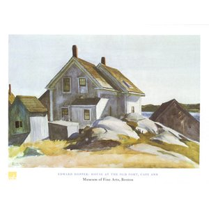 ホッパー House at the Old Fort Cape Ann 60cm×80cm|poster